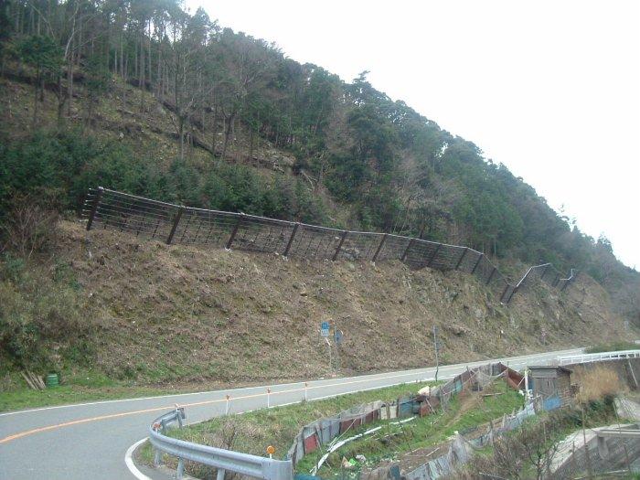 香美久美浜線道路施工中の写真