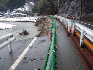 日高竹野線道路災害復旧